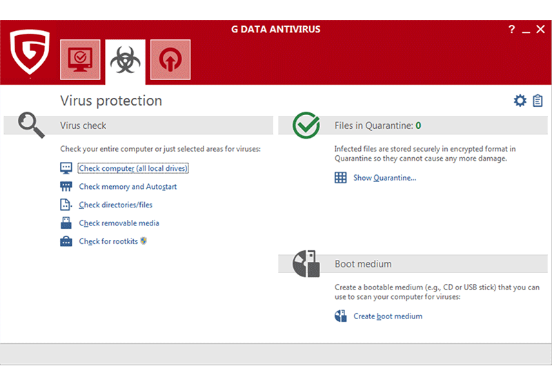 G DATA Antivirus screenshot