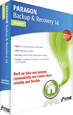 Paragon Backup & Recovery 14 Home boxshot