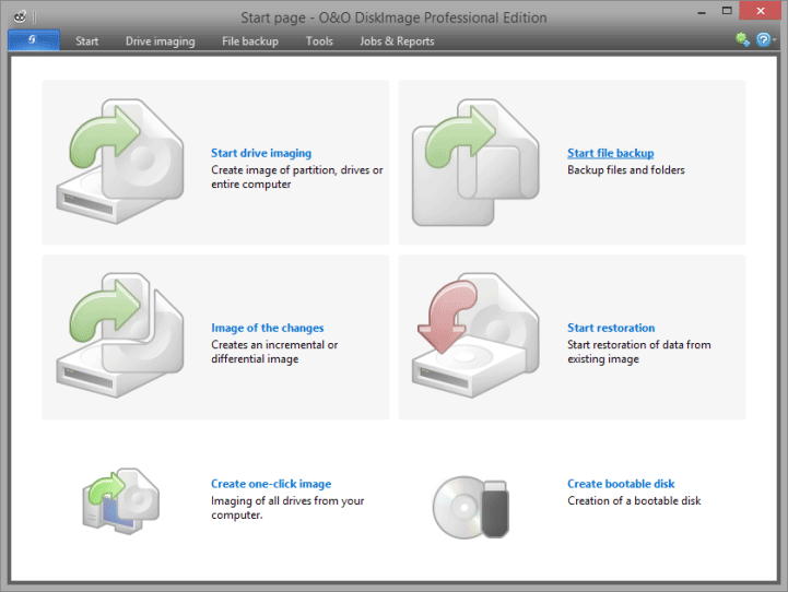 O&O DiskImage 10.5 screenshot