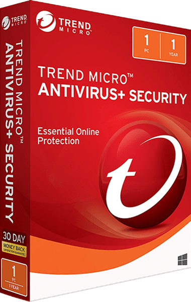 Trend Micro Antivirus+ Security boxshot