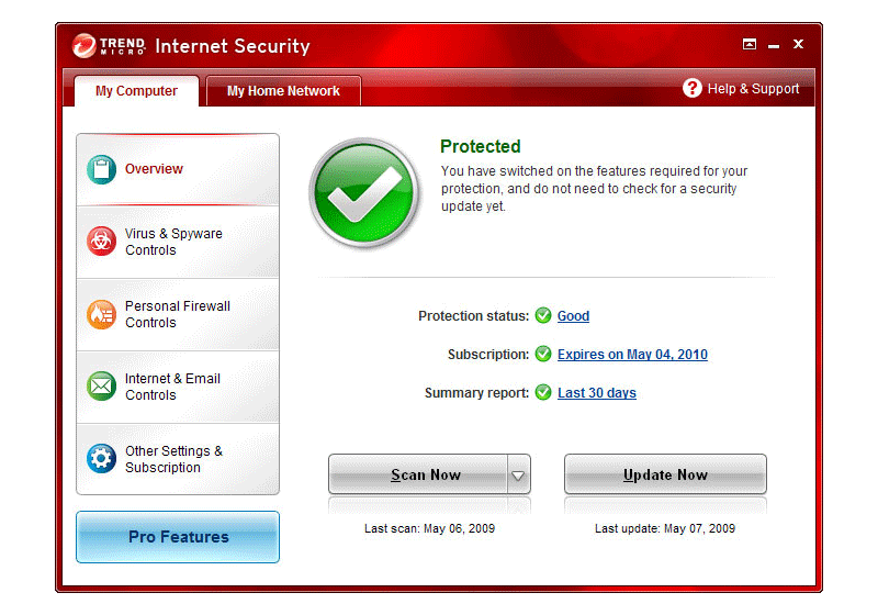 Trend Micro Internet Security screenshot